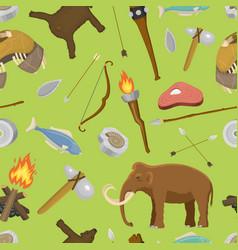 stone age aboriginal primeval historic hunting vector image