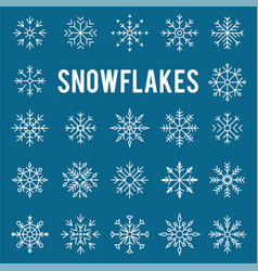 christmas winter snowflakes vector image vector image