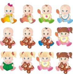 Collection of baby vector image vector image