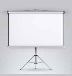 meeting projector screen white board vector image