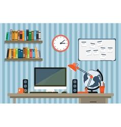 modern workspace 2 vector image