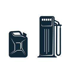 oil fueling station canister flat icon vector image vector image