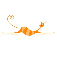 Orange Stripe Cat vector image vector image