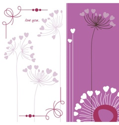 Floral background in purple and white vector image