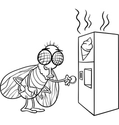 fly and vending machine coloring page vector image vector image