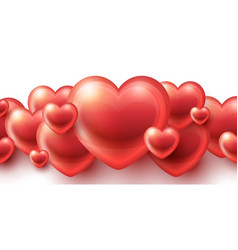 red hearts love background vector image vector image