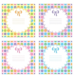set of baby frames vector image vector image