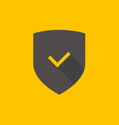 shield and check mark icon vector image
