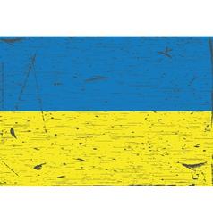 Ukraine flag grunge vector image vector image