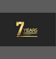 7 years anniversary celebration with elegant vector