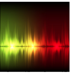 Abstract equalizer background yellow-red wave vector