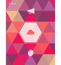Abstract mobile User Interface vector image