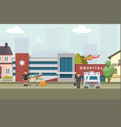Ambulance hospital banner vector