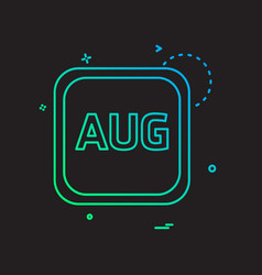 auguest calender icon design vector image