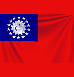 Back flag myanmar vector
