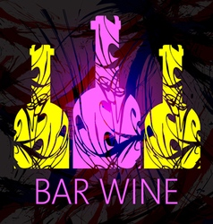Bar wine and tasting card vector