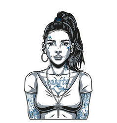 Beautiful latino girl vector