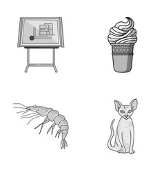 building food and other monochrome icon in vector image