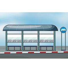 Bus stop vector