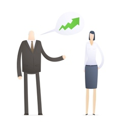 Business people in different situations vector