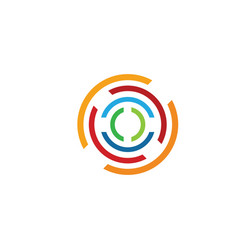 C circle letter logo template icon vector