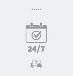Calendar icon - 247 services - web icon vector