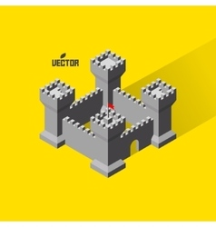 Castle Medieval fort with defense towers vector