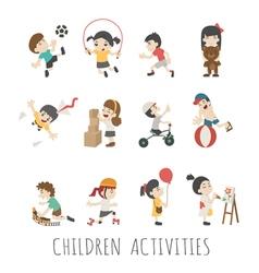 Children activities eps10 format vector image