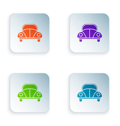 Color car volkswagen beetle icon isolated on white vector
