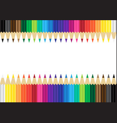 Color pencils flat background vector