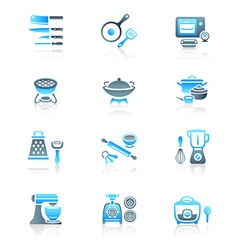 Cooking set - MARINE series vector image