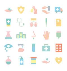 covid19 19 flat style icon set design vector image