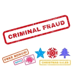 Criminal Fraud Rubber Stamp vector image