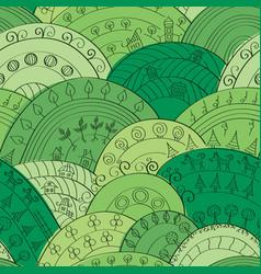 dark-green hills pattern vector image