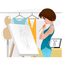 Designer clothing in the workplace vector