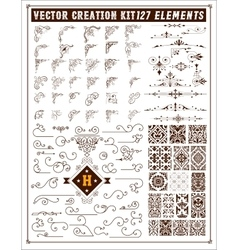 Elements for design corners accents and patterns vector