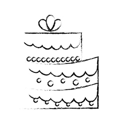 Embellished cake icon image vector