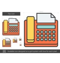 Fax line icon vector image