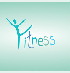 Fitness concept young people doing workout vector