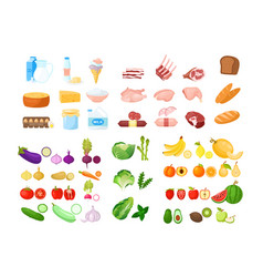 food cartoon collection vector image