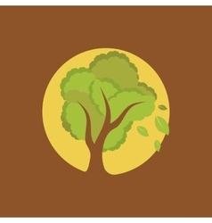 Full moon tree vector