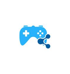 Game share logo icon design vector