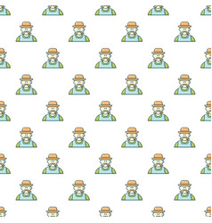 Gardener man pattern seamless vector