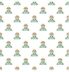 gardener man pattern seamless vector image