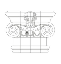 greek capitals of columns vector image