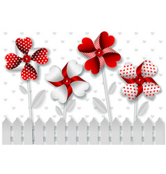 Greetings card for valentines day in paper art vector