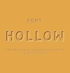 Hollow font alphabet vector