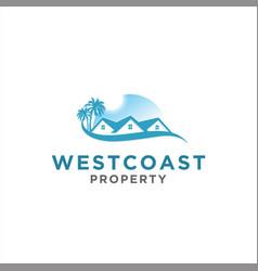 home and property logo design idea vector image
