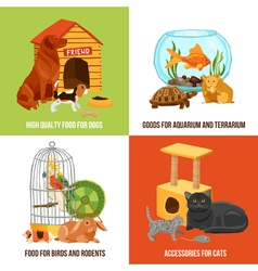Home pets 2x2 design concept vector