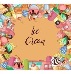 Ice creams collection vector image
